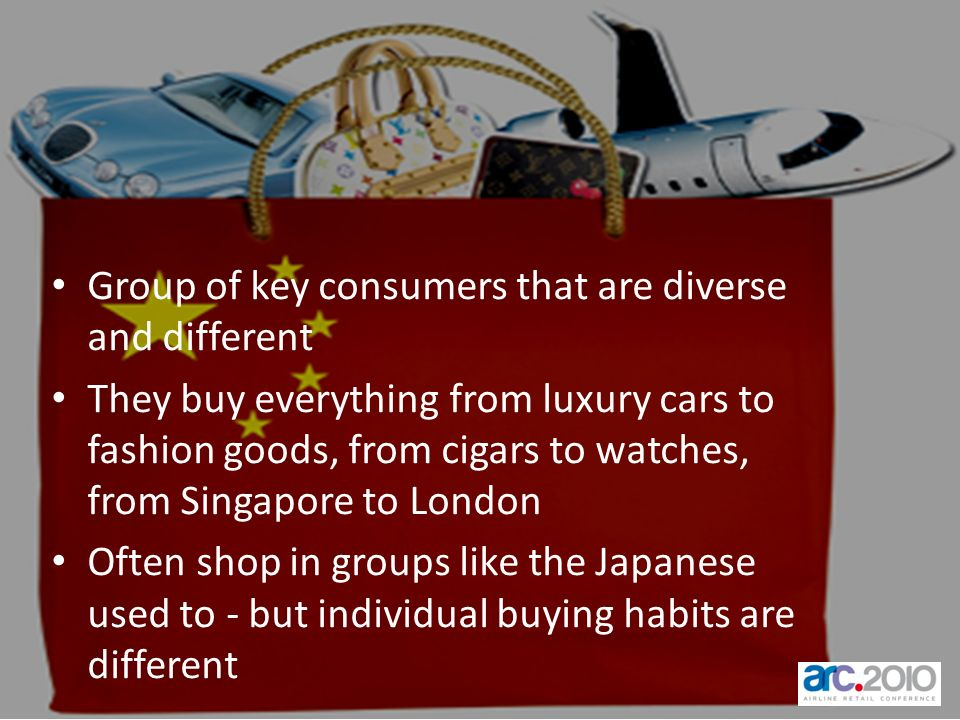 Group of key consumers that are diverse and different
