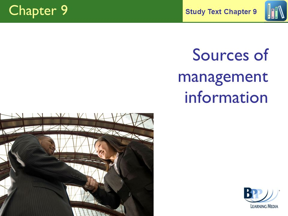 Sources of management information