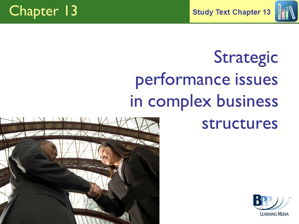 Strategic performance issues in complex business structures