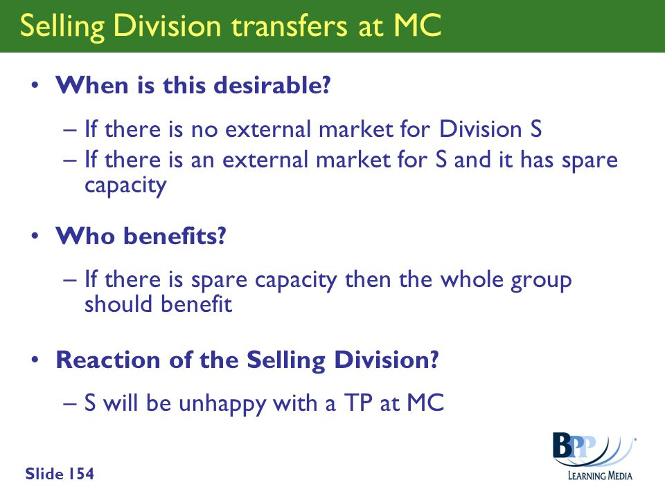 Selling Division transfers at MC