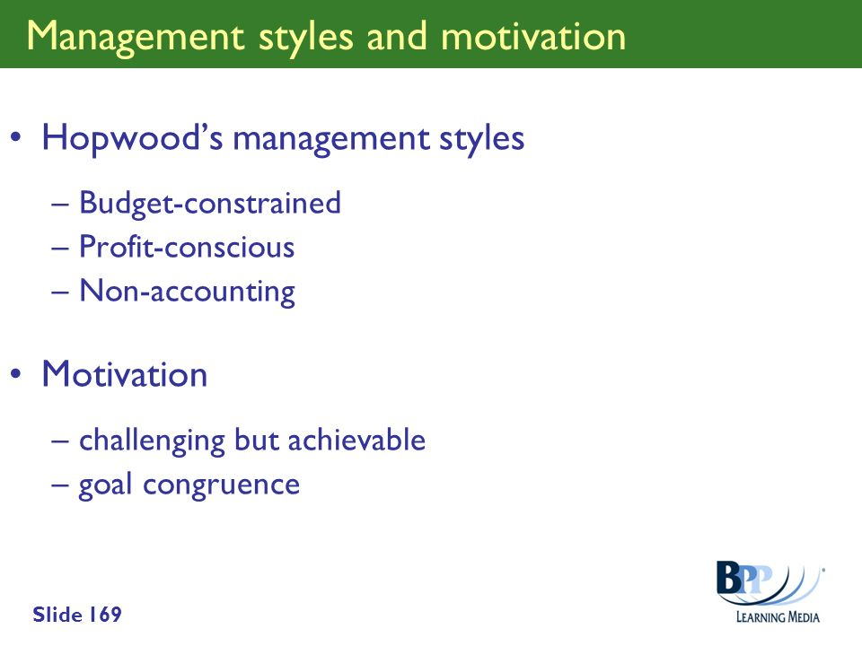 Management styles and motivation