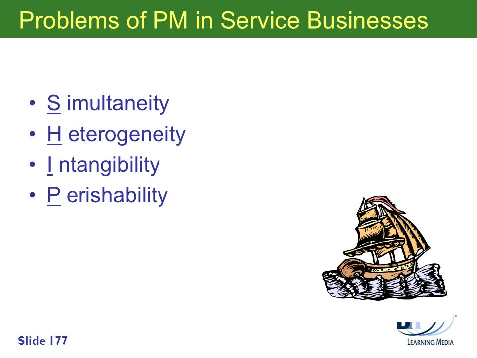 Problems of PM in Service Businesses