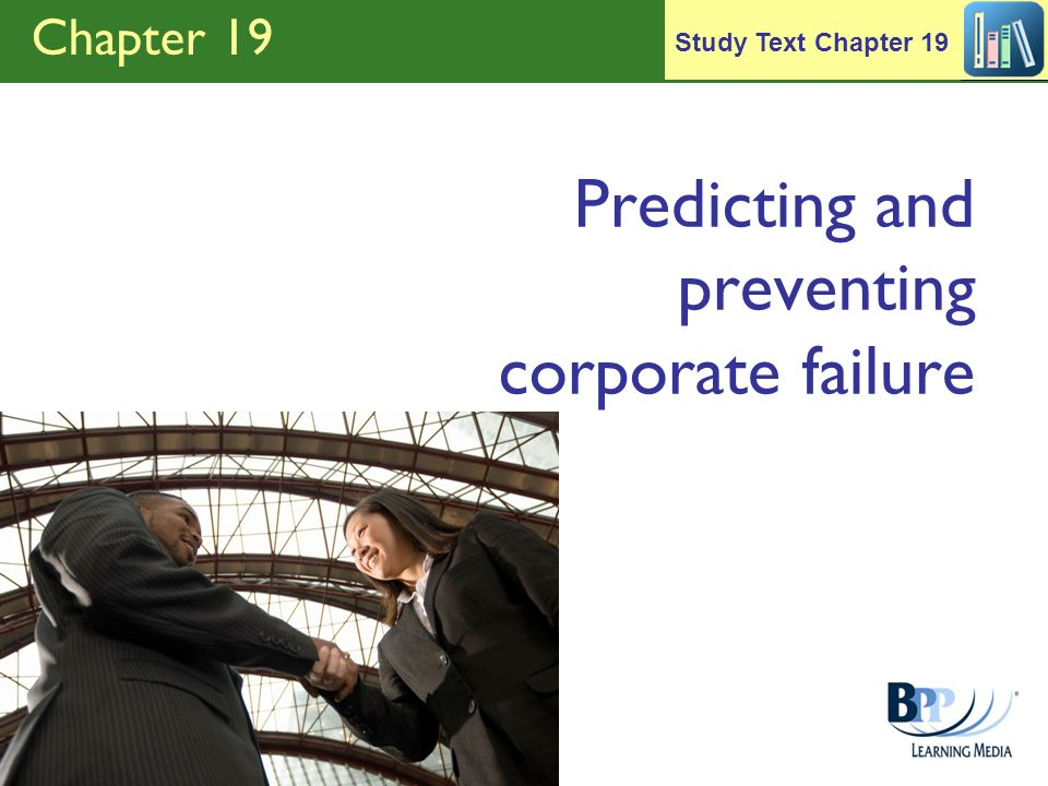 Predicting and preventing corporate failure
