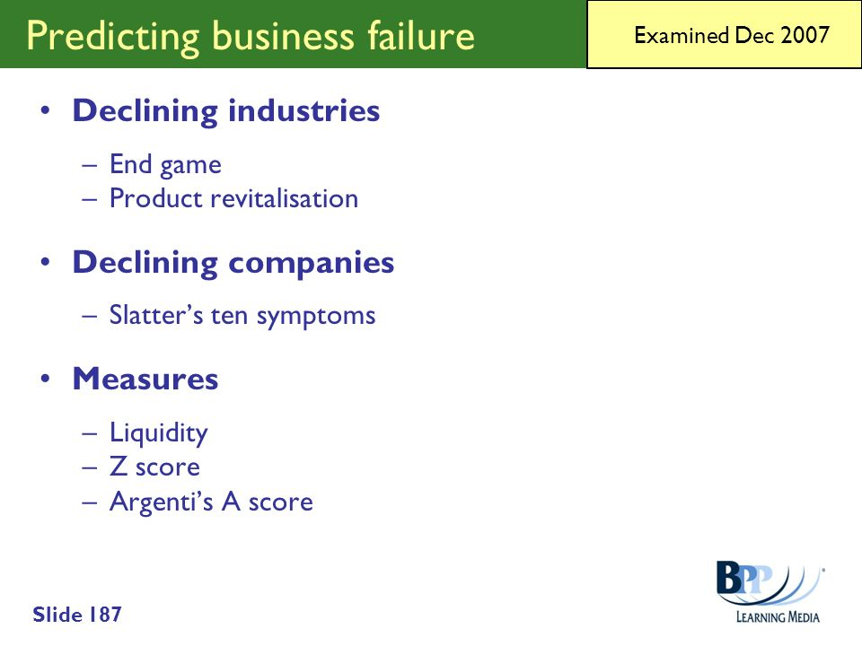 Predicting business failure