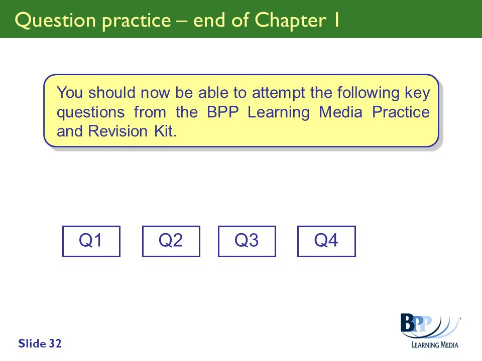 Question practice – end of Chapter 1