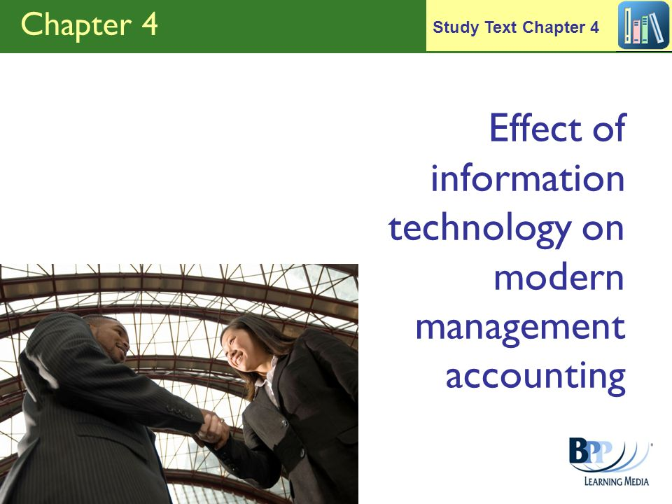Effect of information technology on modern management accounting