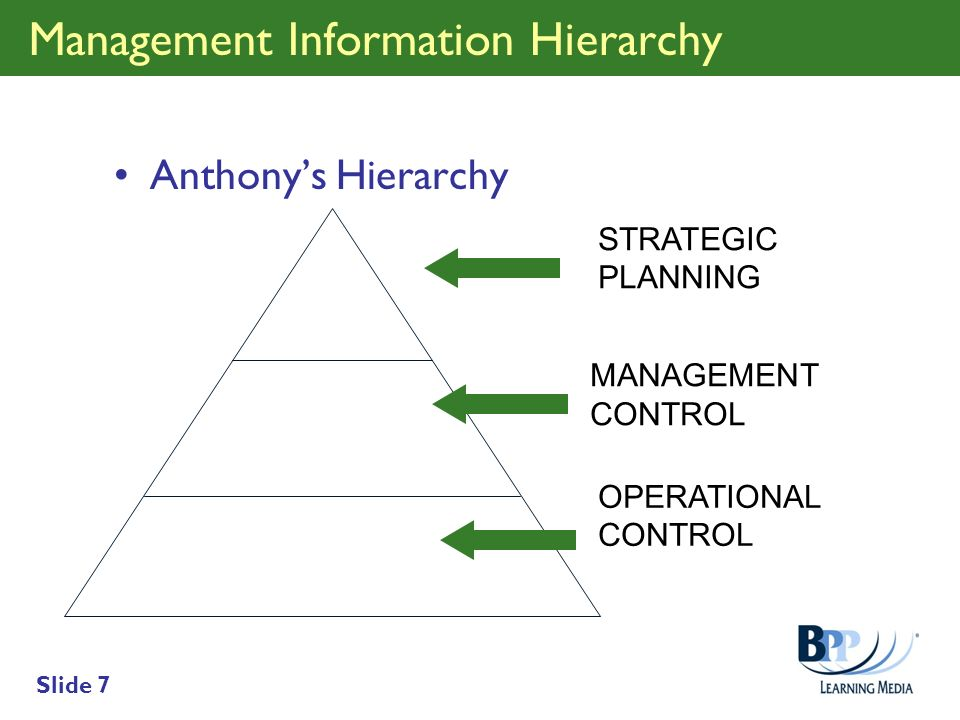Management Information Hierarchy