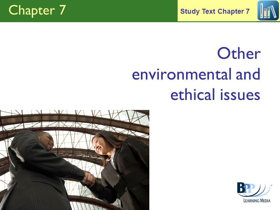 Other environmental and ethical issues