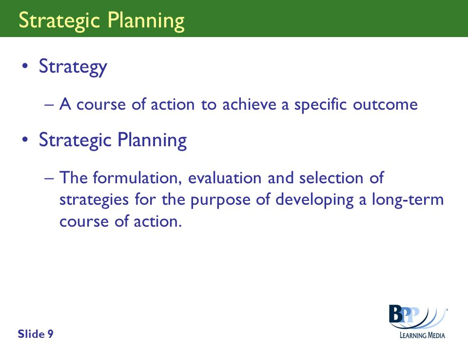 Strategic Planning Strategy Strategic Planning