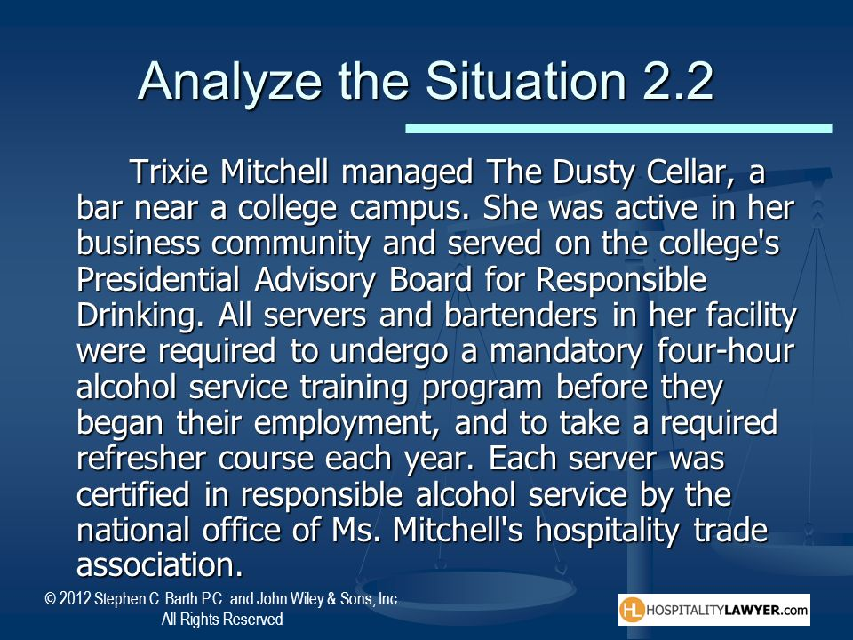 Analyze the Situation 2.2
