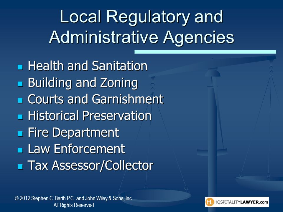 Local Regulatory and Administrative Agencies
