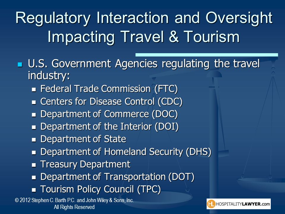 Regulatory Interaction and Oversight Impacting Travel & Tourism