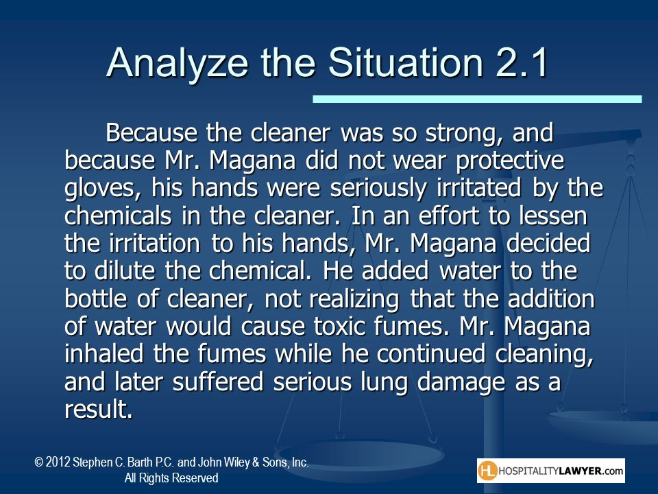 Analyze the Situation 2.1
