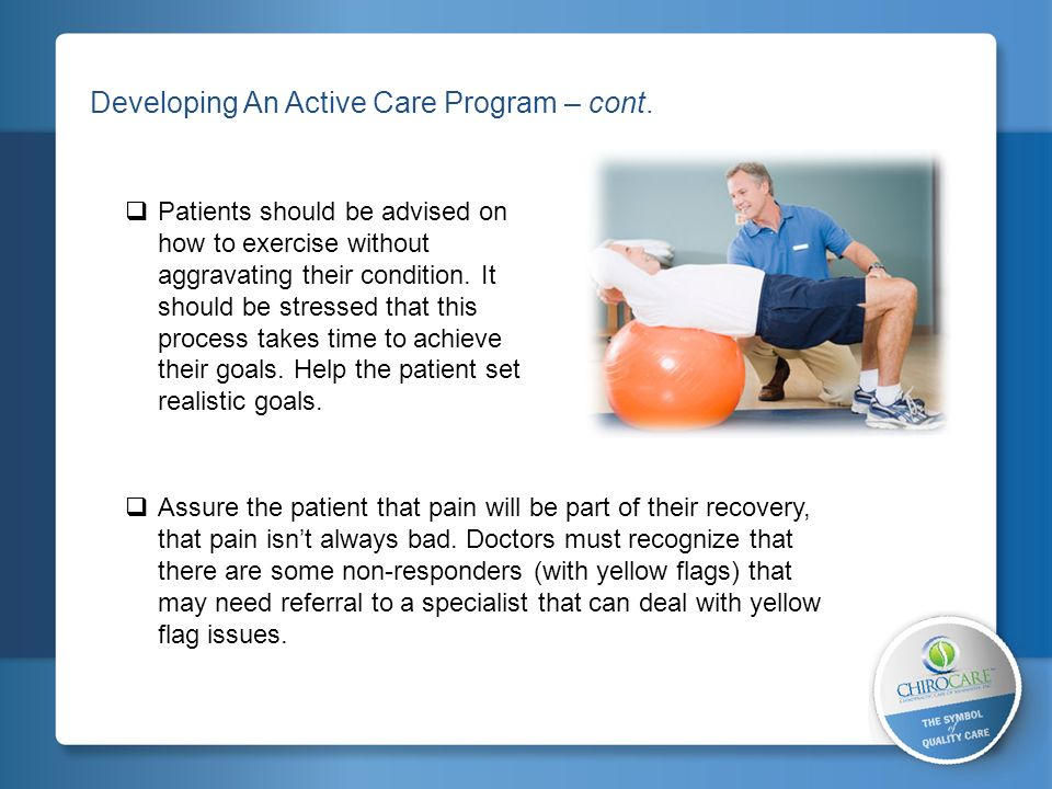 2 Developing An Active Care Program – cont.