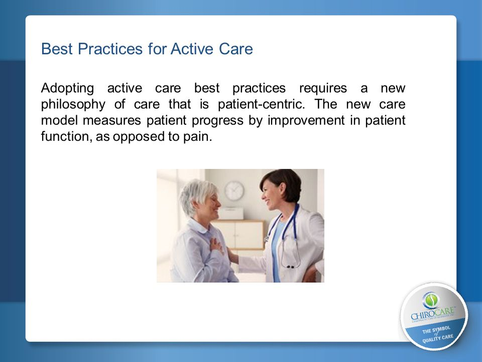 Best Practices for Active Care