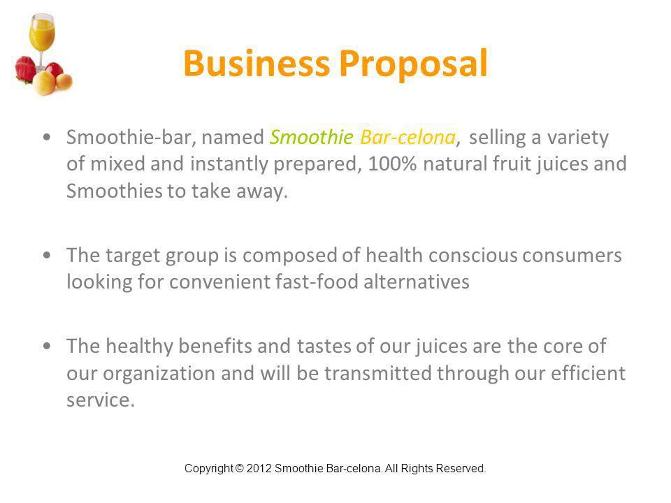 Smoothie Bar-Celona Smoothie & Juice Bar Business Plan - Ppt Video
