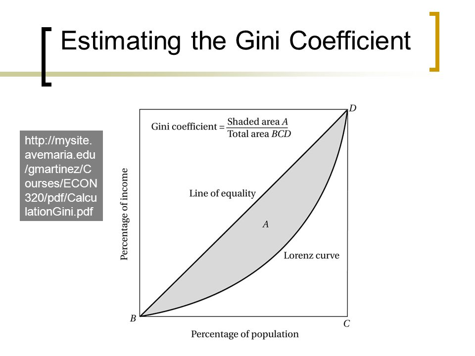 Estimating the Gini Coefficient