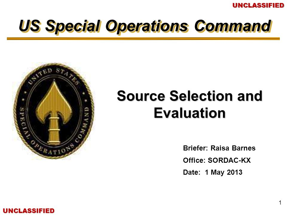 Source Selection and Evaluation