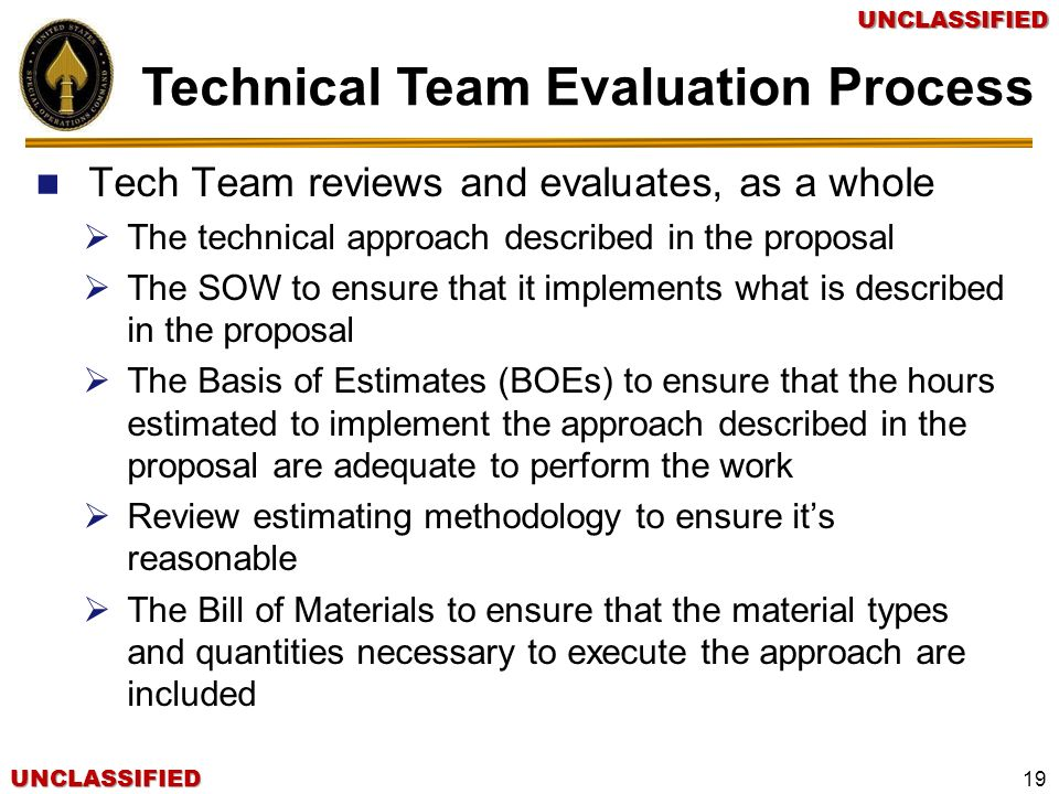 Technical Team Evaluation Process