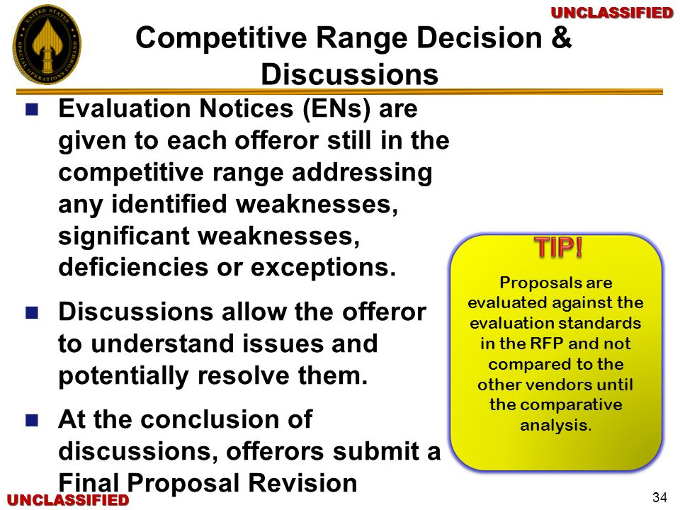 Competitive Range Decision & Discussions