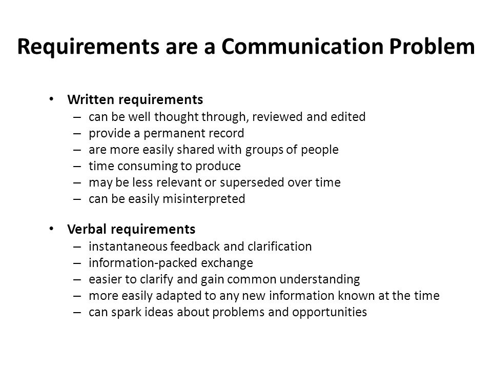 Requirements are a Communication Problem