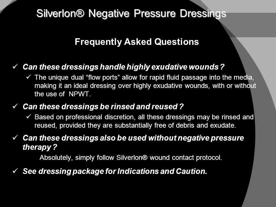 Silverlon® Negative Pressure Dressings
