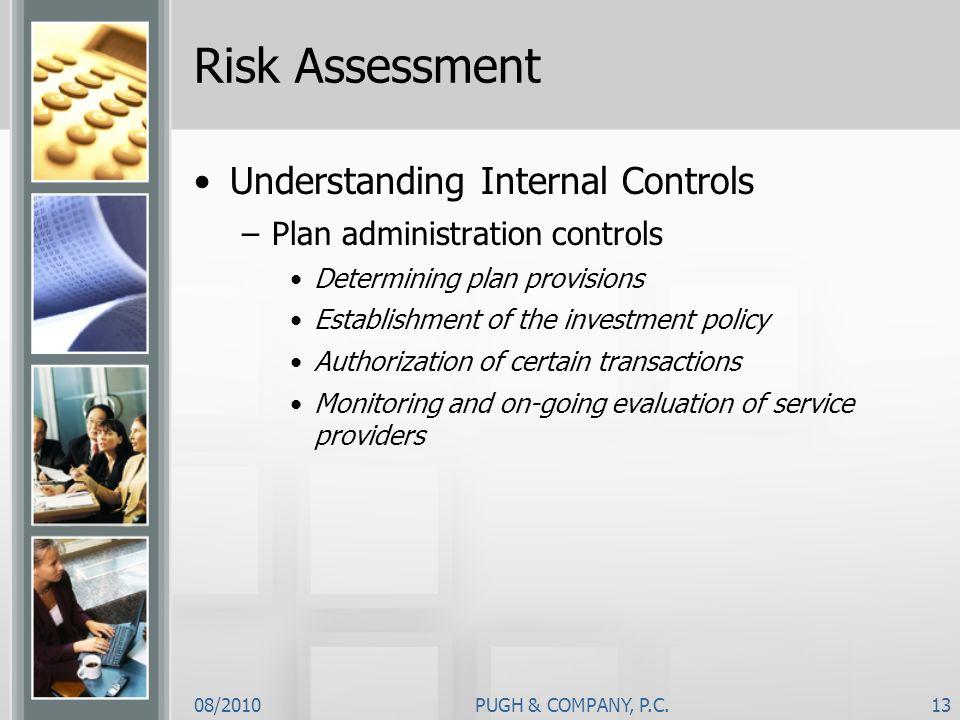 Risk Assessment Understanding Internal Controls