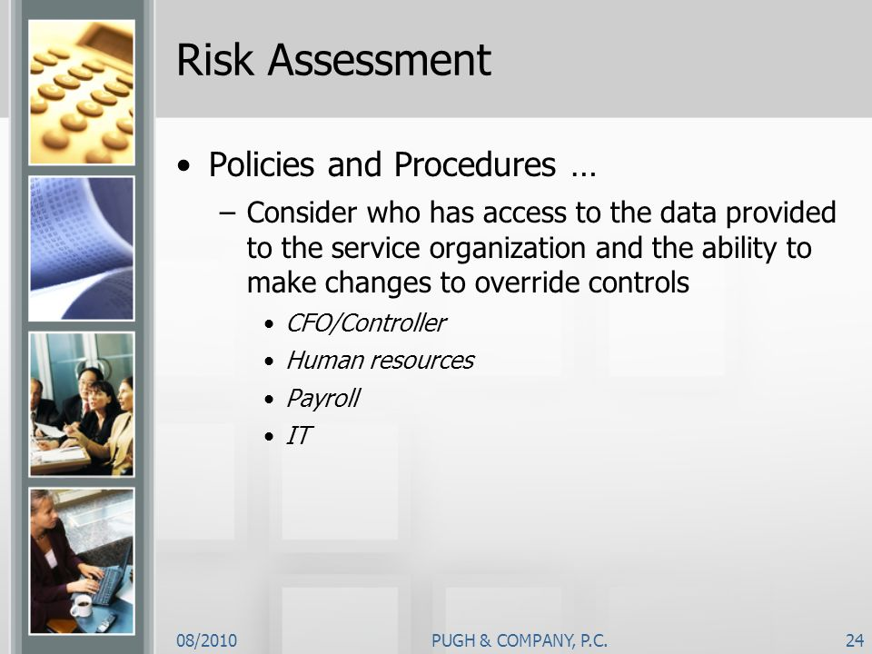 Risk Assessment Policies and Procedures …