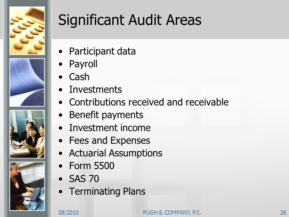 Significant Audit Areas