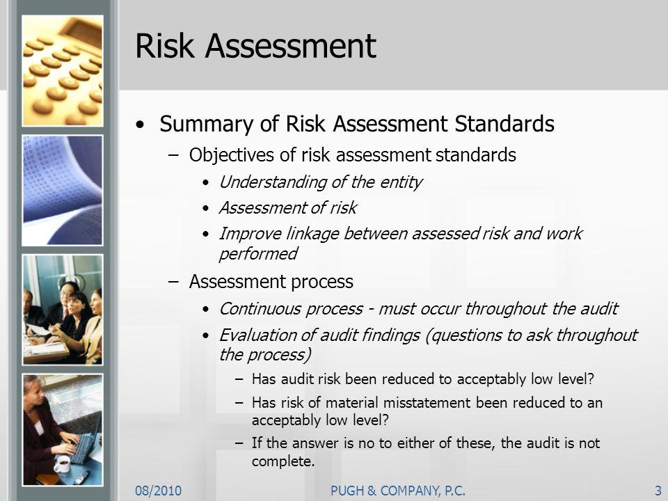Risk Assessment Summary of Risk Assessment Standards