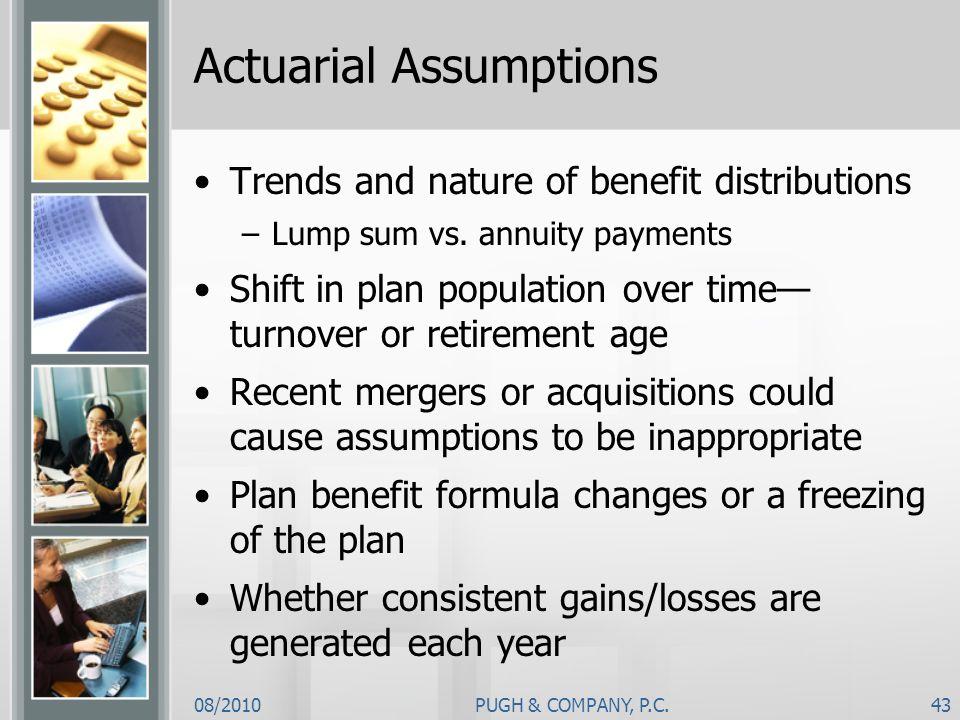 Actuarial Assumptions