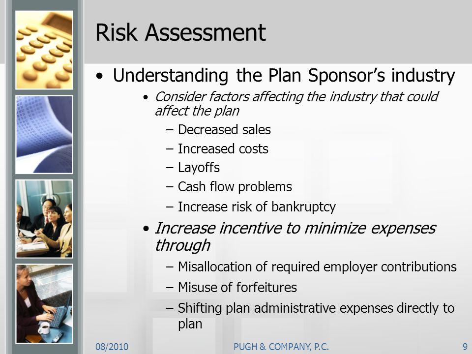 Risk Assessment Understanding the Plan Sponsor's industry