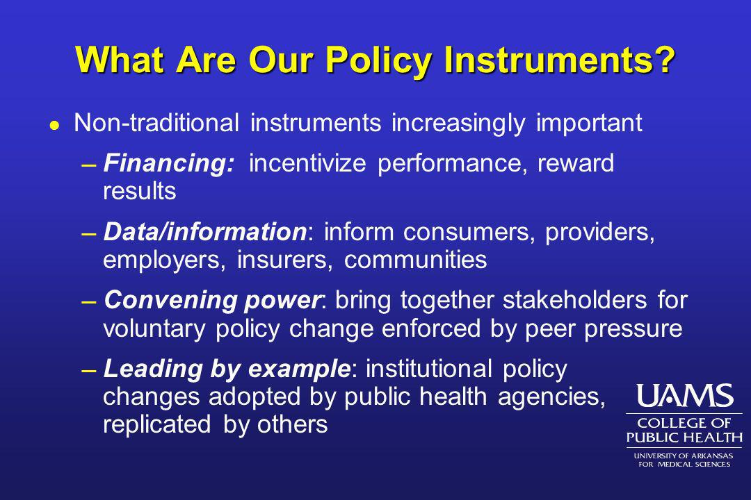 What Are Our Policy Instruments