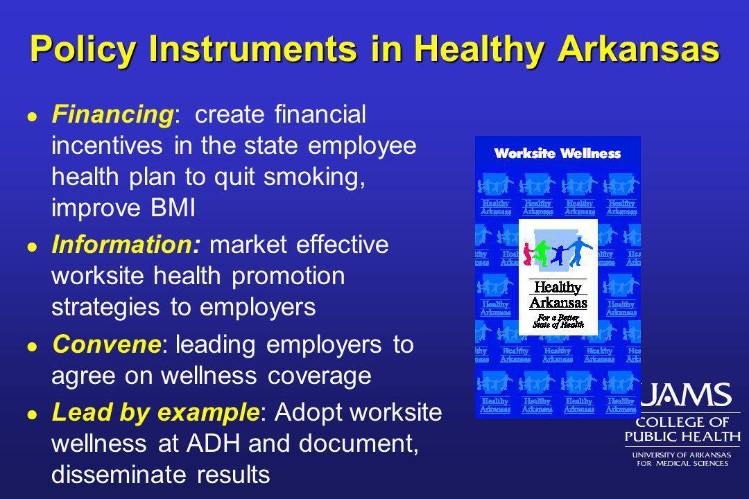 Policy Instruments in Healthy Arkansas