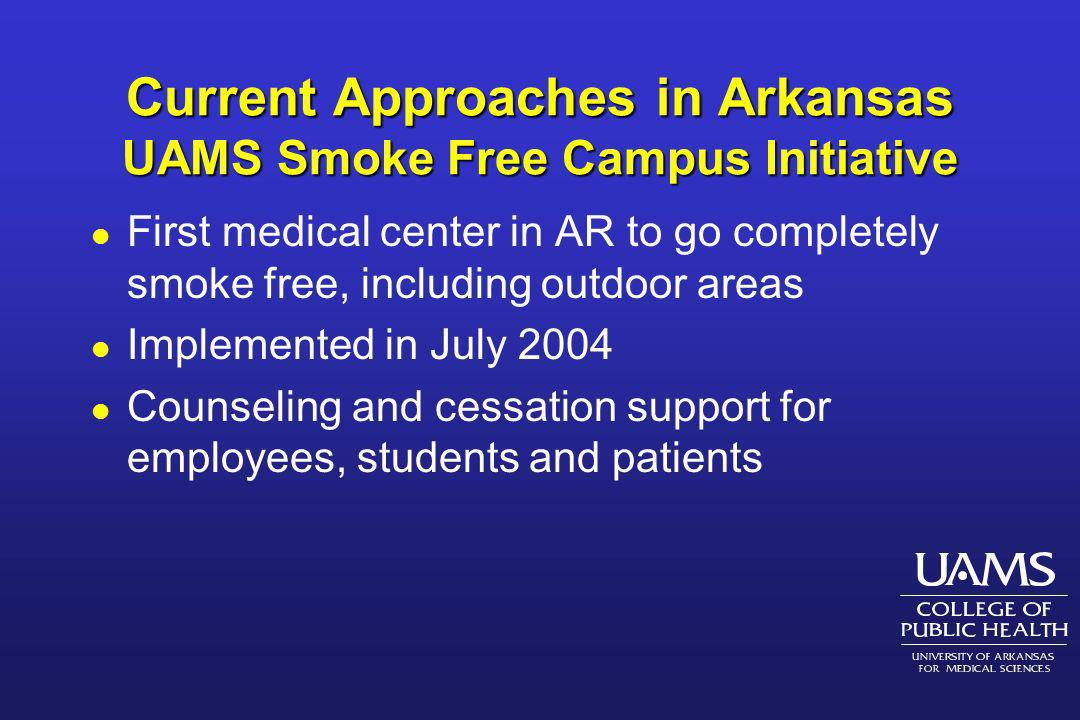 Current Approaches in Arkansas UAMS Smoke Free Campus Initiative