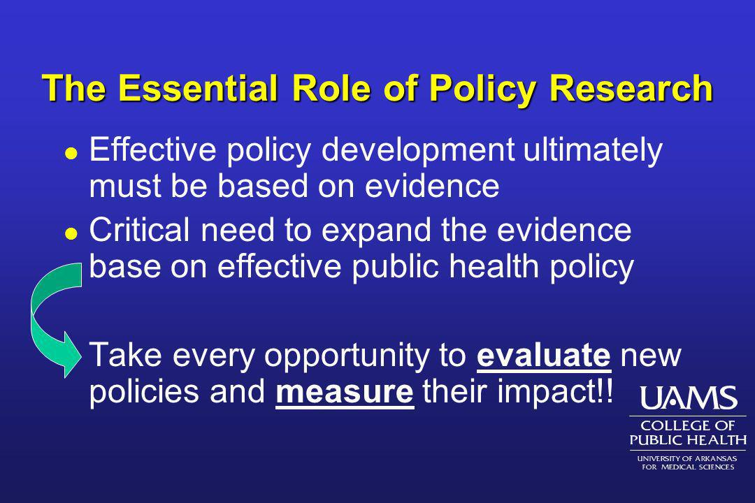 The Essential Role of Policy Research