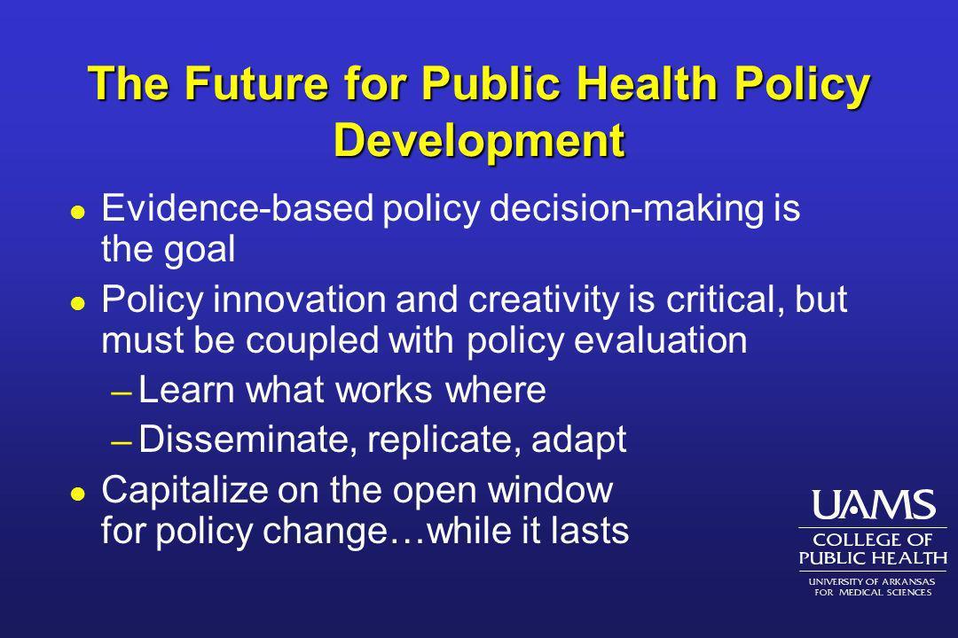The Future for Public Health Policy Development