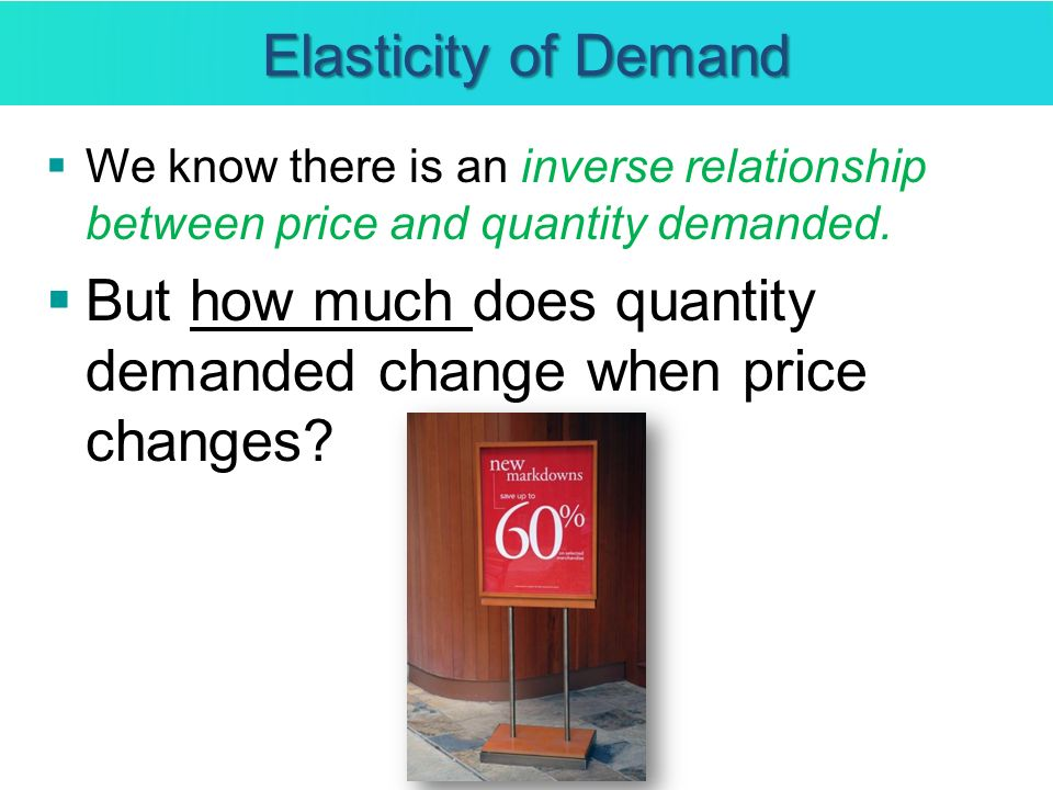 But how much does quantity demanded change when price changes