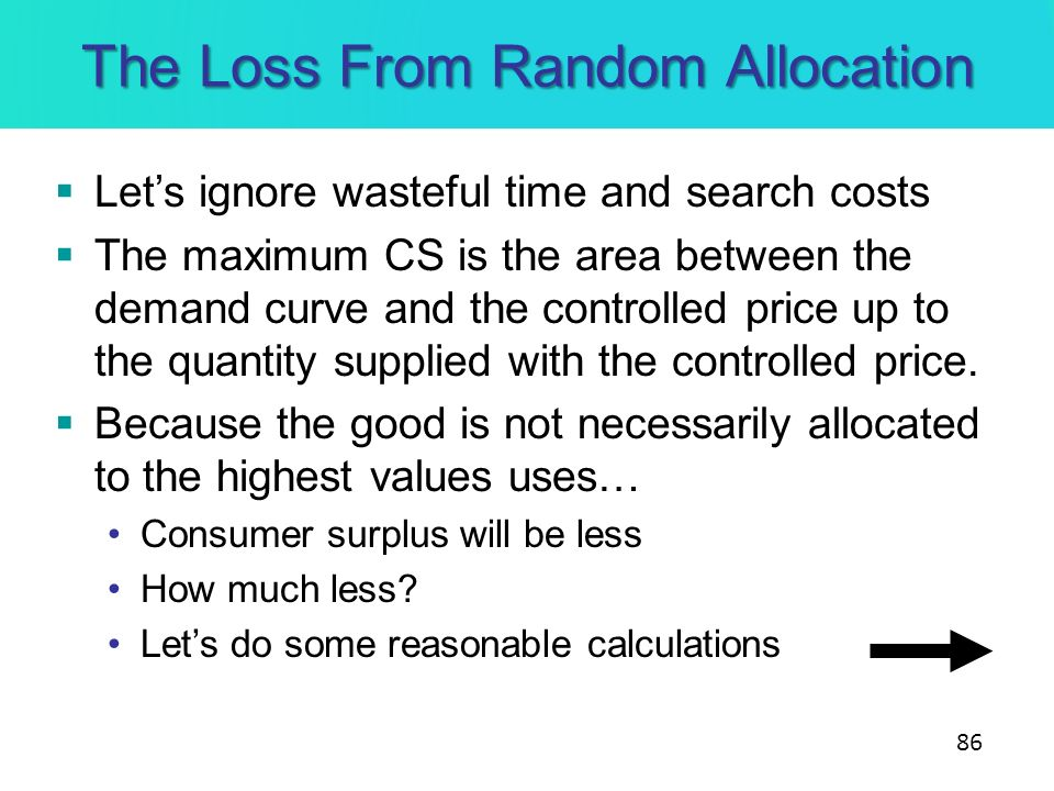 The Loss From Random Allocation