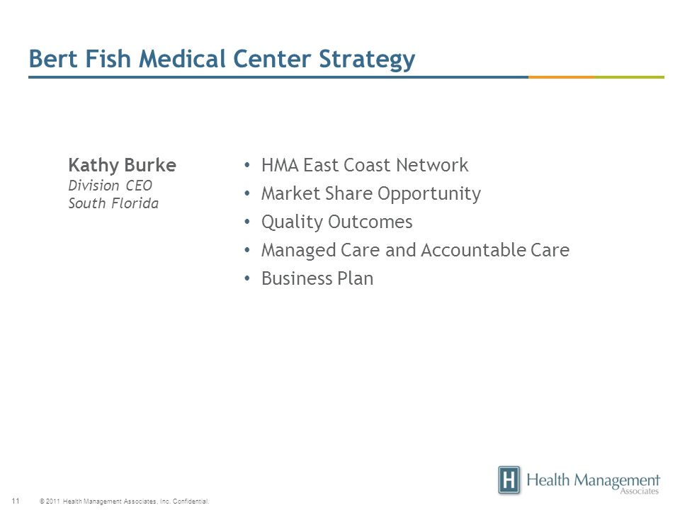 Bert Fish Medical Center Strategy