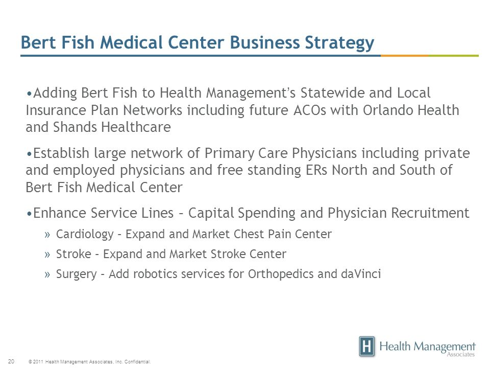 Bert Fish Medical Center Business Strategy