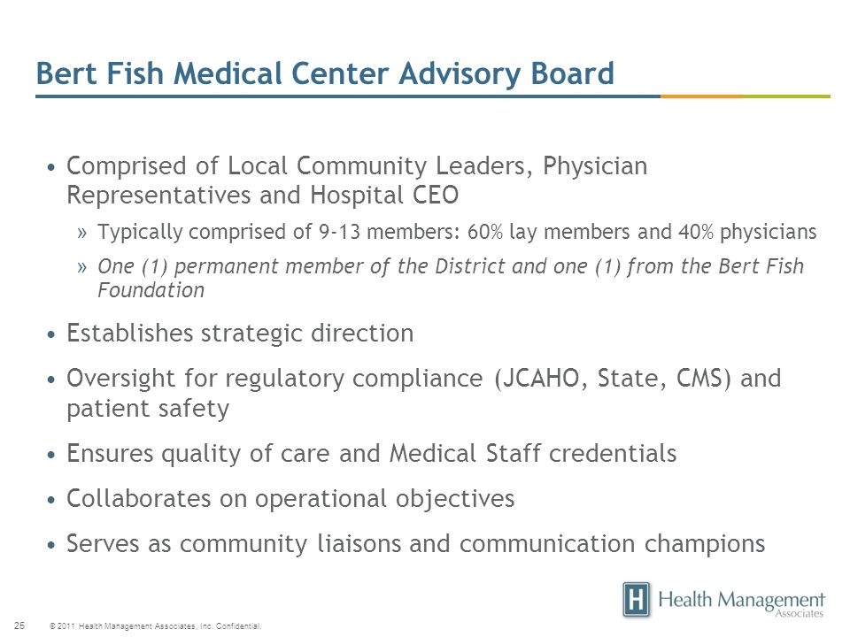 Bert Fish Medical Center Advisory Board