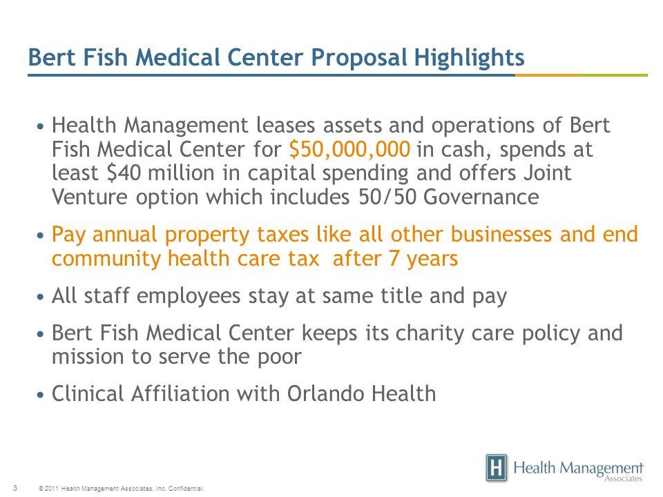 Bert Fish Medical Center Proposal Highlights