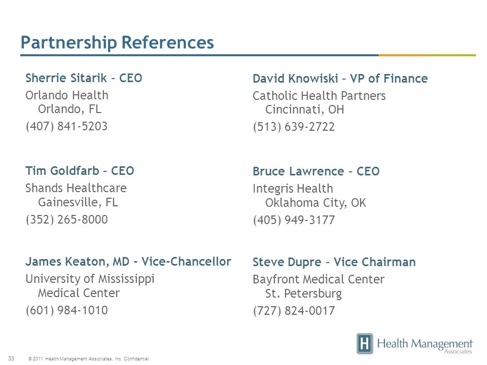 Partnership References
