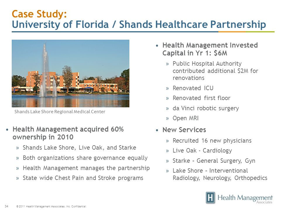 Case Study: University of Florida / Shands Healthcare Partnership