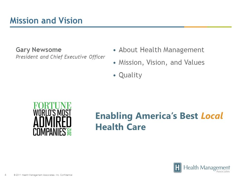 Enabling America's Best Local Health Care