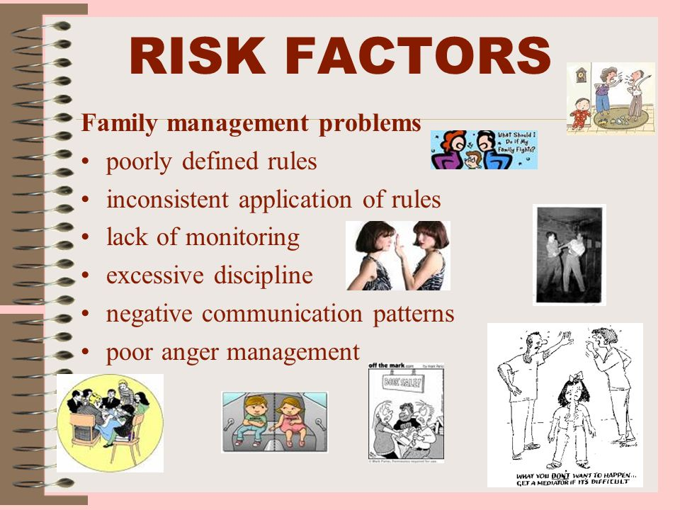 RISK FACTORS Family management problems poorly defined rules