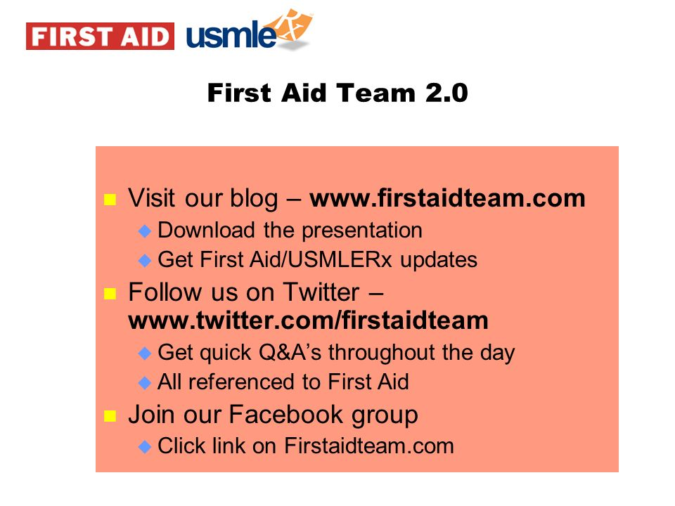 Visit our blog – www.firstaidteam.com