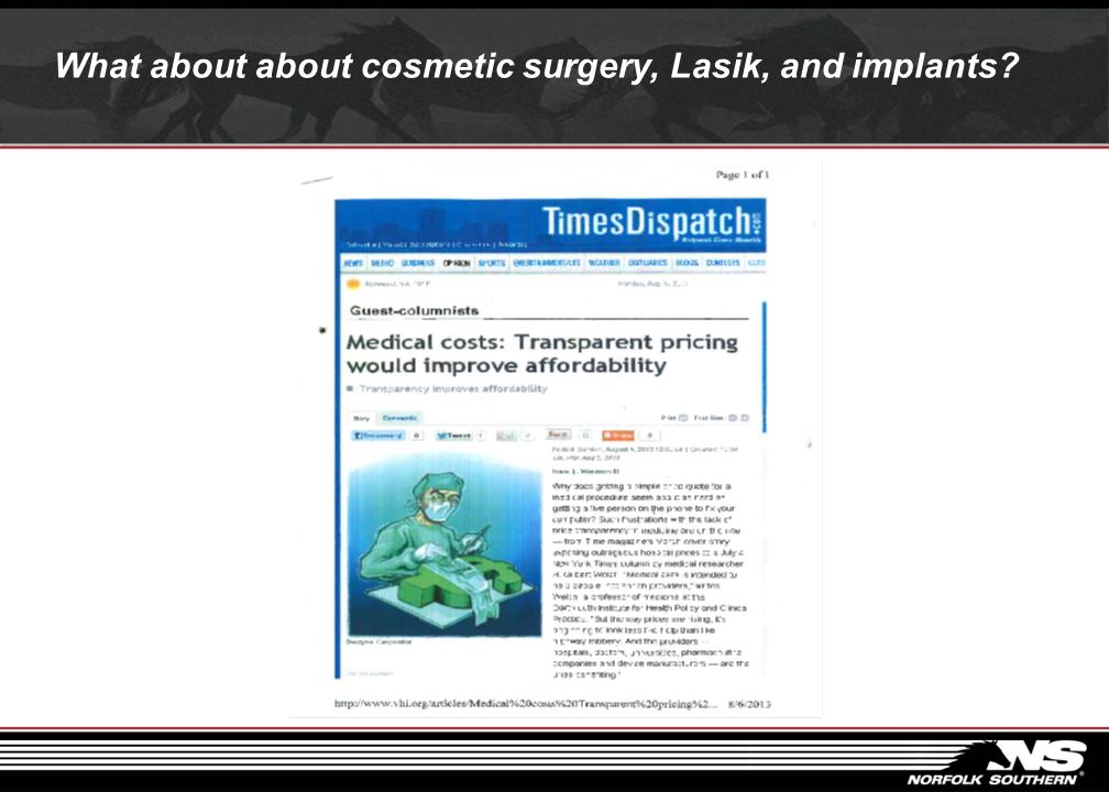 What about about cosmetic surgery, Lasik, and implants