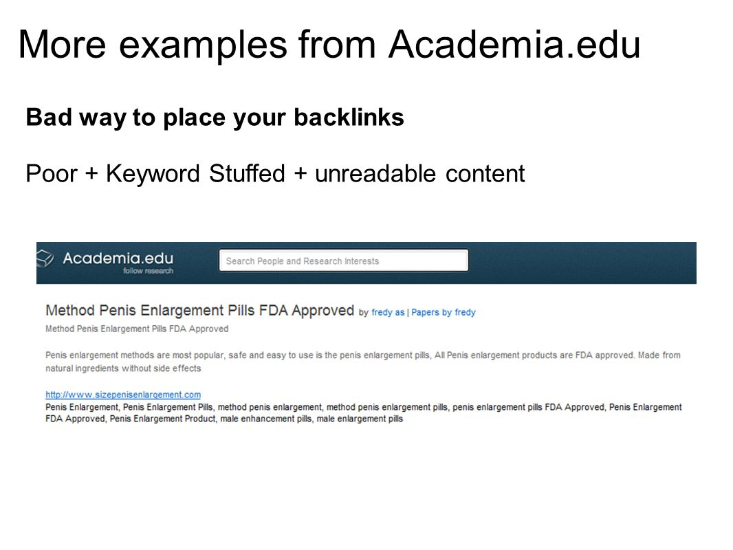 More examples from Academia.edu